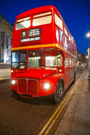 double decker: Old double-decker bus, London. UK.