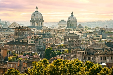 View of Rome from Castel Sant'Angelo, Italy. Stock Photo - 12446554