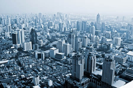 urbanscape: Bangkok skyline, Thailand. Stock Photo