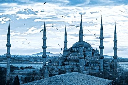 The Blue Mosque, (Sultanahmet Camii), Istanbul, Turkey. Stock Photo