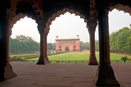 new delhi: Inside The Red Fort, old Delhi, India.
