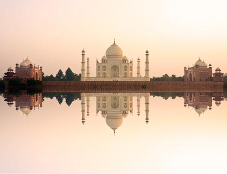 Panoramic view of Taj Mahal at sunset, Agra, Uttar Pradesh, India. Stock Photo - 12886150
