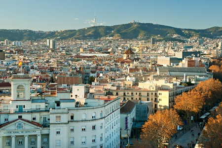 View from the Mirador de Colon, Barcelona, Spain. Stock Photo - 12887507