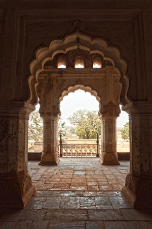 Palace in Orcha, Madhya Pradesh, India.