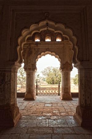 nandi: Palace in Orcha, Madhya Pradesh, India. Editorial