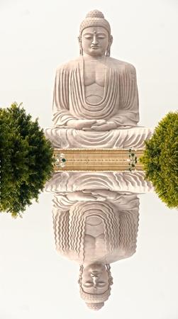 enlightment: Buddha  in Bodhgaya, Bihar, India.