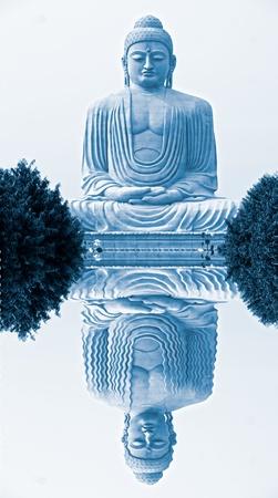 bodhgaya: Buddha in Bodhgaya, Bihar, India. Stock Photo