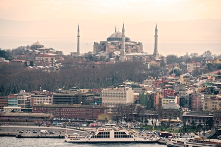 constantinople: Hagia Sophia mosque in sultanahmet, Istanbul, Turkey. Stock Photo