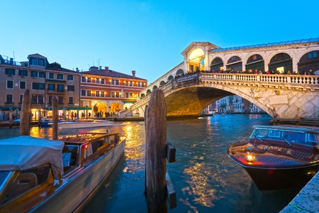 rialto bridge: Venice, View from Rialto Bridge. Italy. Stock Photo