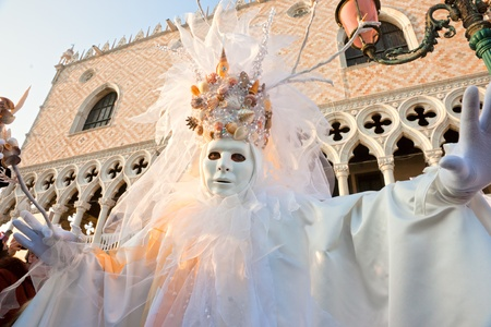 mardigras: Portrait of a Beautiful mask in Venice, Italy.