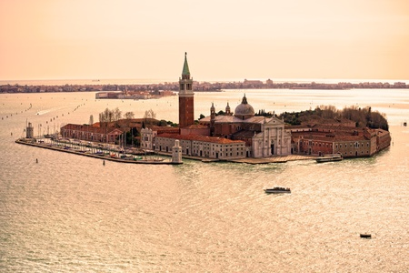 Venice, View of San Giorgio maggiore from San Marco. Italy. photo