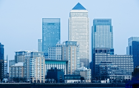 business building: Canary Wharf, London, UK