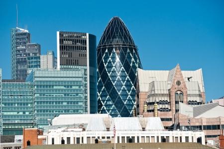 lloyds of london: London skyline, UK.