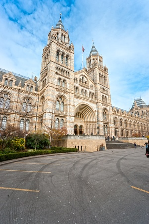 natural history museum: Facade of Natural History Museum, London.