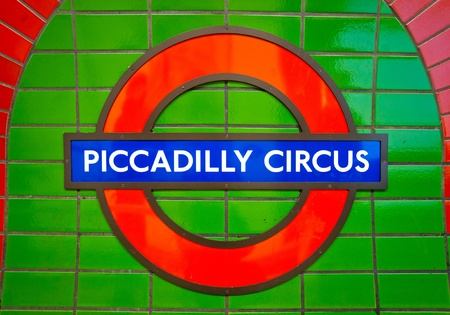 amasing: LONDON, ENGLAND - MARCH 15: Underground Piccadilly Circus tube station in London on March 15, 2011. The London Underground is the oldest underground railway in the world covering 402 km of tracks.