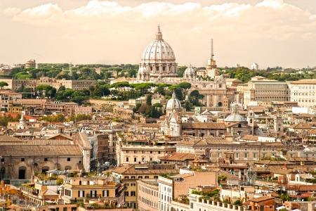 rom: View of  San Peter basilica, Rome, Italy.