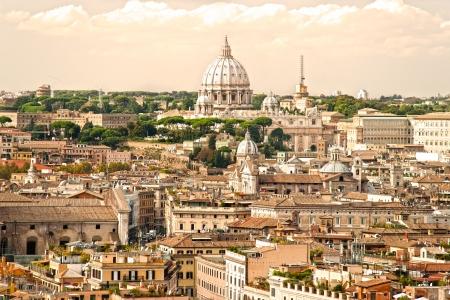 rome italie: Vue de Saint-Pierre Basilique, Rome, Italie. Banque d'images