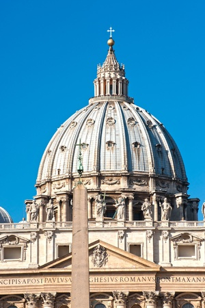 bernini: View of  San Peter basilica, Rome, Italy.