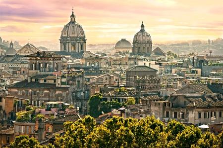 Veduta di Roma da Castel Sant'Angelo, Italia.