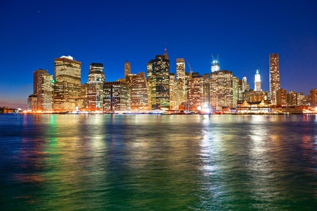 Vista aérea de Manhattan, Nueva York. EE.UU.. Foto de archivo