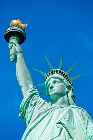 liberty statue: American symbol - Statue of Liberty. New York, USA.  Stock Photo