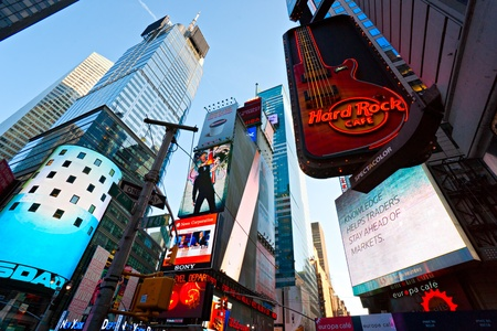 NEW YORK CITY -MARCH 25: Times Square, featured with Broadway Theaters and animated LED signs, is a symbol of New York City and the United States, March 25, 2012 in Manhattan, New York City. USA. Stock Photo - 13095697
