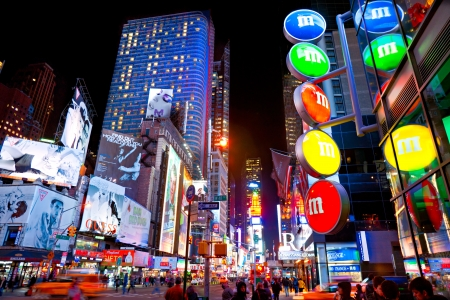 NEW YORK CITY -MARCH 25: Times Square, featured with Broadway Theaters and animated LED signs, is a symbol of New York City and the United States, March 25, 2012 in Manhattan, New York City. USA. Stock Photo - 13315451