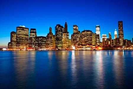city tourism: Aerial view of Manhattan, New York City. USA.