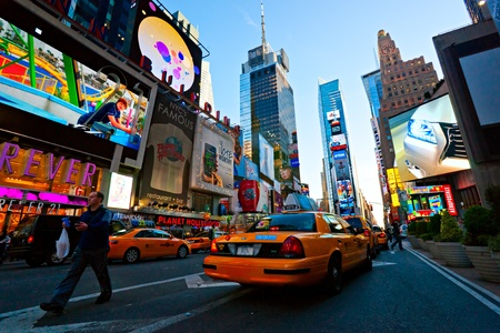 NEW YORK CITY -MARCH 25: Times Square, featured with Broadway Theaters and animated LED signs, is a symbol of New York City and the United States, March 25, 2012 in Manhattan, New York City. USA. Stock Photo - 13315450