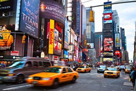 NEW YORK CITY -MARCH 25: Times Square, featured with Broadway Theaters and animated LED signs, is a symbol of New York City and the United States, March 25, 2012 in Manhattan, New York City. USA. Stock Photo - 13558864