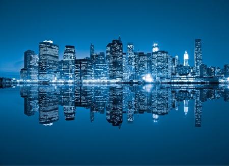 skyline city: Aerial view of Manhattan, New York City. USA.