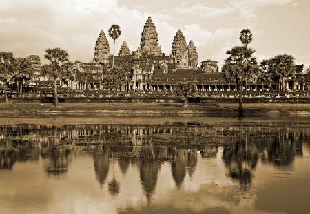 Angkor Wat Temple before sunset, Siem Reap, Cambodia  photo