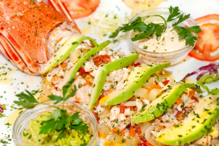 Lobster salads, with avogado and Mayonnayse