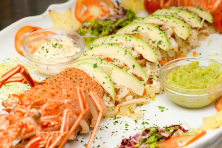 Lobster salads, with avogado and Mayonnayse  photo