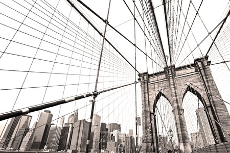 new: Manhattan bridge, New York City. USA. Stock Photo