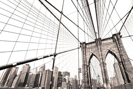 skyline nyc: Puente de Manhattan, Nueva York. EE.UU.. Foto de archivo