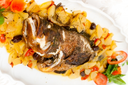 the dorada: Fresh grouper cooked with potatoes and tomatoes.