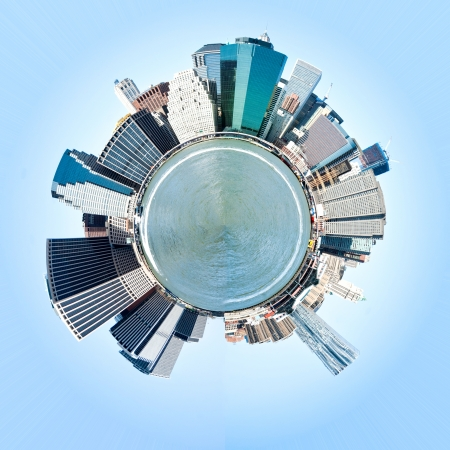 Planet Manhattan, New York City  USA  Miniature planet of Manhattan, New York City, USA, photo