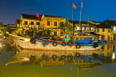 View on the old town of Hoi An. Vietnam.  photo