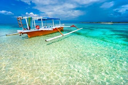 Beautiful sea and coastlines of Gili Meno, Indonesia. photo