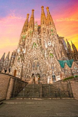 uncomplete:  La Sagrada Familia - Barcelona, Spain  Editorial