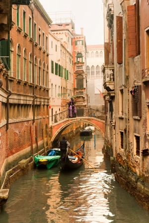 Grand Canal at sunset, Venice, Italy  photo