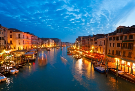 日没で、イタリア、ベニス、カナル ・ グランデ