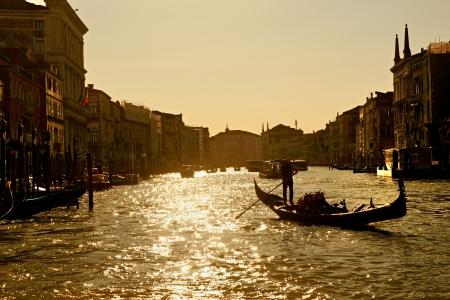 Canal Grande al tramonto, Venezia, Italia