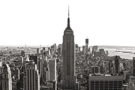 city tourism: Aerial view of Manhattan, New York City  USA  Stock Photo