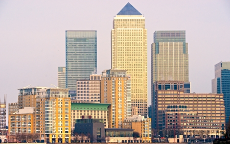 Canary Wharf, London, UK Editorial