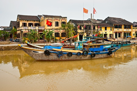 View on the old town of Hoi An  Vietnam