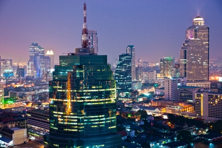 Bangkok skyline, Thailand. photo