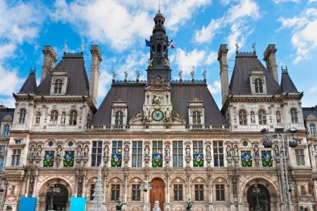 d'eiffel: Hotel de Ville  City Hall of Paris , Paris, France