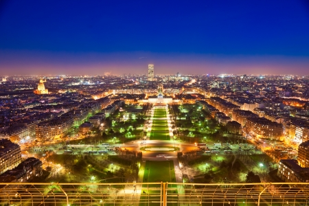 invalides: Aerial view of Paris at sunset